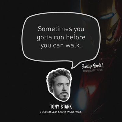 Tony Starks Success Quote