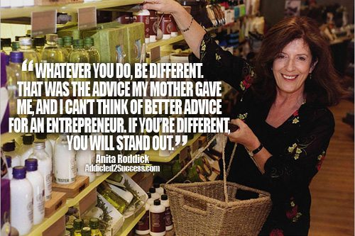 Anita Roddick Entrepreneur Picture Quote For Success