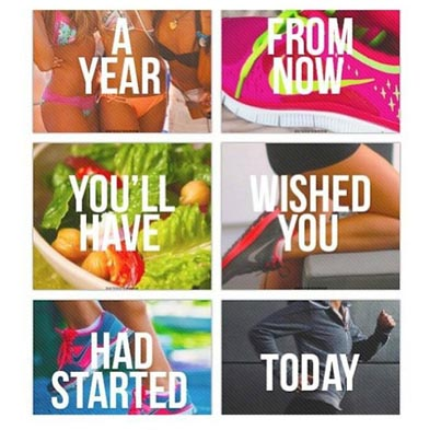 start today fitness picture quote