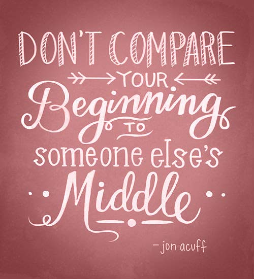 Inspiration Typography Picture Quote Dont Compare