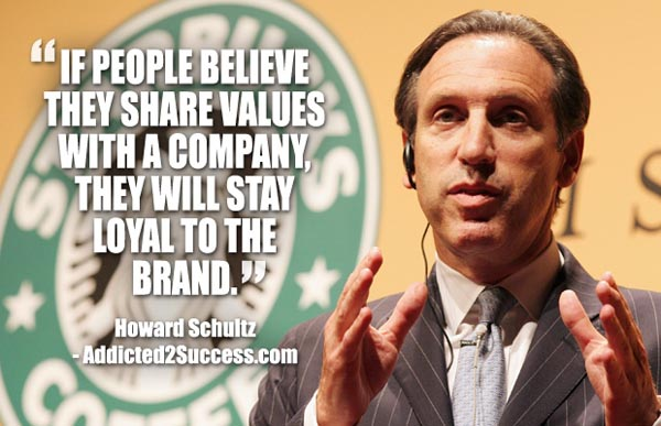 howard schultz branding quote