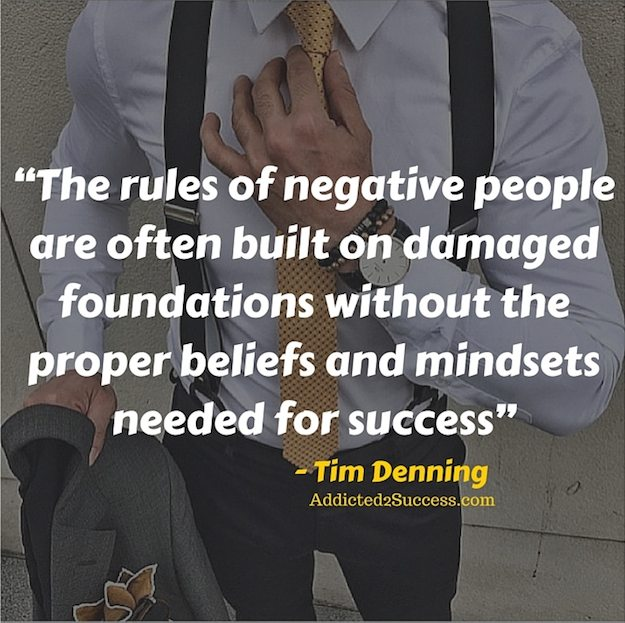 Tim Denning Negative People Quote