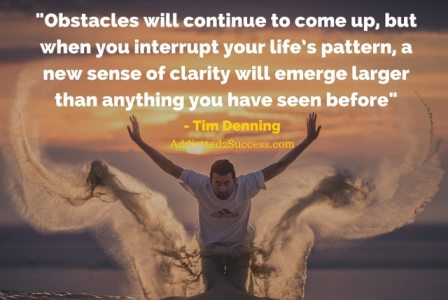 Tim Denning - Overcoming Obstacles Quote V2